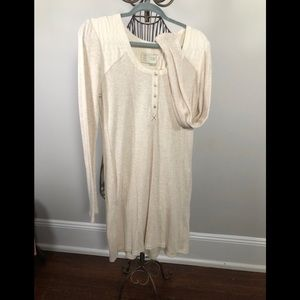Anthropologie Thermal Henley Dress M